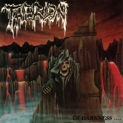 "THERION (Suecia) - ""Of Darkness…"" - LP 1991 - Peaceville Records"