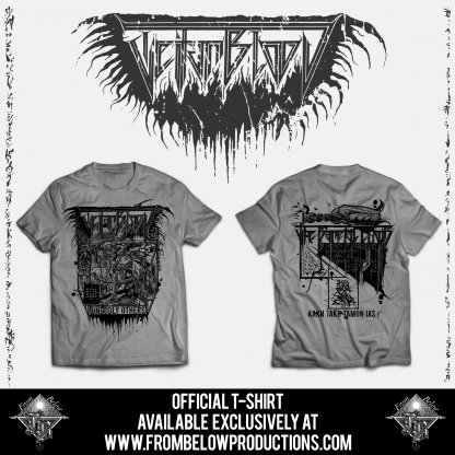 """TEITANBLOOD (Spain) - """"The Baneful Choir"""" - Tshirt design 1 - From Below Productions"""