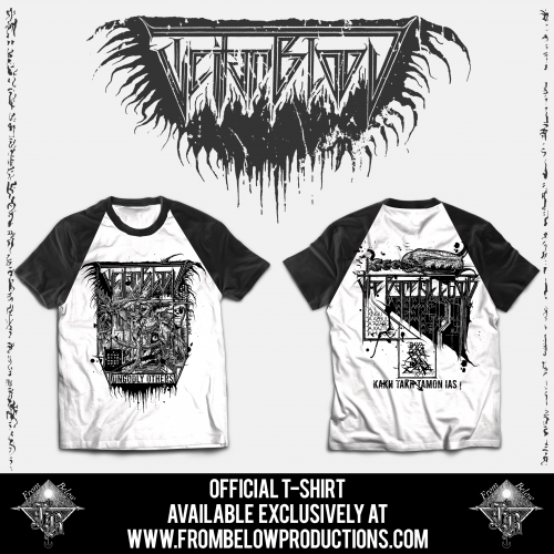 "TEITANBLOOD (Spain) - ""The Baneful Choir"" - Tshirt design 3 - From Below Productions"