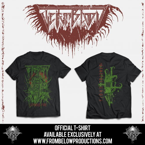 "TEITANBLOOD (Spain) - ""The Baneful Choir"" - Tshirt design 1 2019 - From Below Productions This is a PRE-ORDER. Estimated shipping date: 18th October"