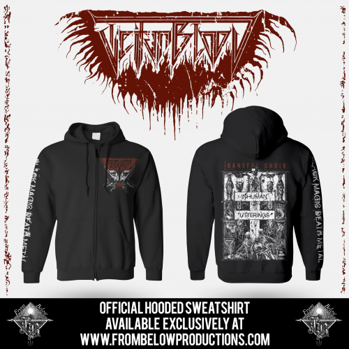 "TEITANBLOOD (Spain) - ""The Baneful Choir"" - Hooded Sweatshirt 2019 - From Below Productions"
