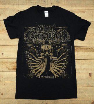 "ARKAIK EXCRUCIATION ""Auparishtaka"" t-shirt - Mahlat Records Printed on heavy weight 100% cotton Gildan shirts."
