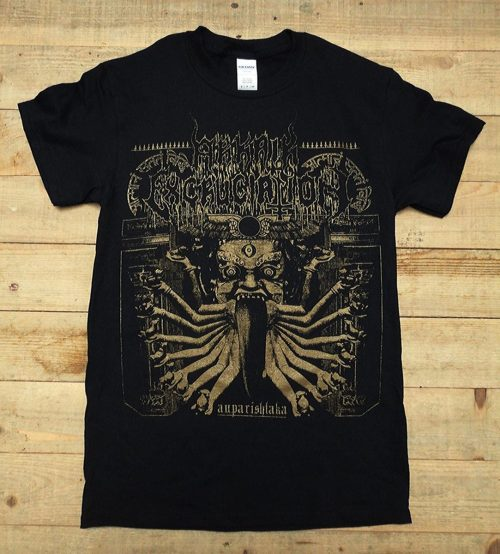 "ARKAIK EXCRUCIATION ""Auparishtaka"" t-shirt - Mahlat Records Printed on heavy weight 100% cotton Gildan shirts."