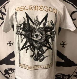 """ASCENSION - """"With Burning Tongues"""" Tshirt Size M"""