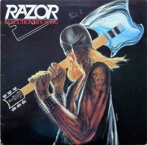 "RAZOR (Canada) - ""Executioner's Song"" - LP 1985 - Hammerheart Records"