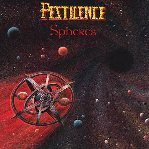 "PESTILENCE (Netherlands) - ""Spheres"" - LP 1993 - Hammerheart Records"