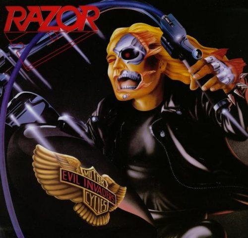 "RAZOR (Canada) - ""Evil Invaders"" - LP 1985 - Hammerheart Records"