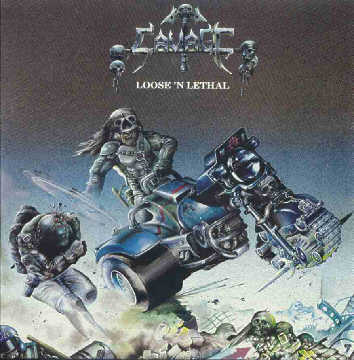 "SAVAGE (UK) - ""Loose 'n Lethal"" - LP 1983 - Hammerheart Records"