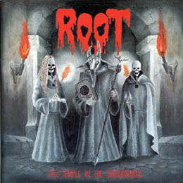 "ROOT (Czechia) - ""The Temple in the Underworld"" - LP + 7"" 1992 - Nasphyr Personal Demon Records"