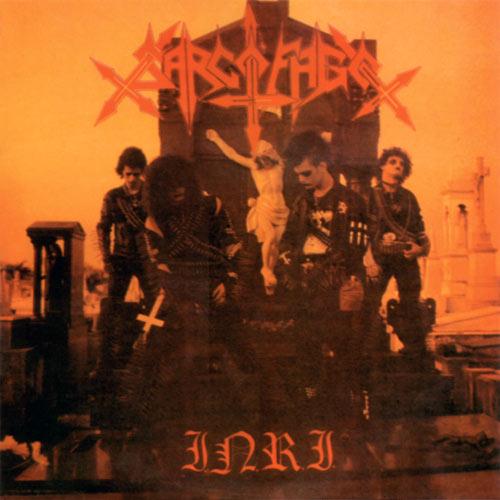 "SARCOFAGO (Brazil) - ""I.N.R.I."" - LP 1987 - Cogumelo Records"