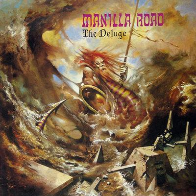 """MANILLA ROAD (USA) - """"The Deluge"""" - LP 1986 - High Roller Records"""