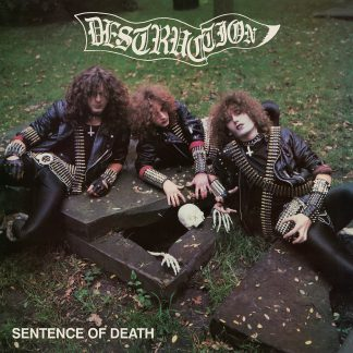 """DESTRUCTION (Germany) - """"Sentence of Death"""" - Limited Black Vinyl LP with US cover, 2 posters and printed inner sleeve 1984 - High Roller Records"""