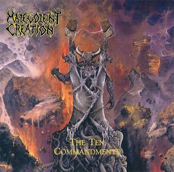 "MALEVOLENT CREATION (USA) - ""The Ten Commandments"" - Slipcase 2CD Includes all four demos 1991 - Hammerheart Records"