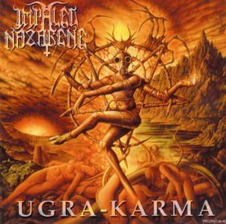 "IMPALED NAZARENE (Finland) - ""Ugra-Karma"" Limited Gatefold Black LP with hot foil stamping 1993 - Osmose Productions"