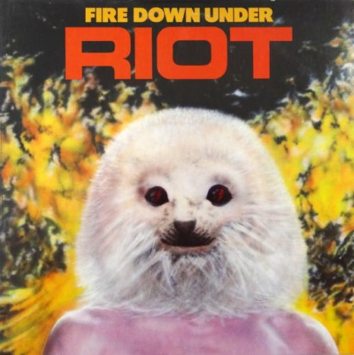 """RIOT (USA) - """"Fire Down Under"""" - Digisleeve CD with poster booklet and bonus tracks 1981 - Metal Blade Records"""
