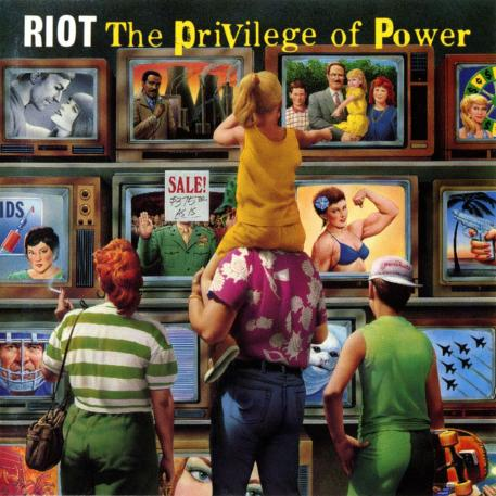 """RIOT (USA) - """"The Privilege of Power"""" - Digisleeve CD with poster booklet 1990 - Metal Blade Records"""