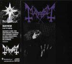 "MAYHEM (Norway) - ""Live in Leipzig"" - CD 1993 - Peaceville Records"