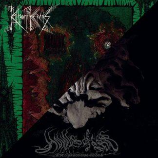 "HOWLS OF EBB / KHTHONIIK CERVIIKS - ""With Gangrene Edges / Voiidwarp"" - Split LP 2017 - Iron Bonehead Productions"