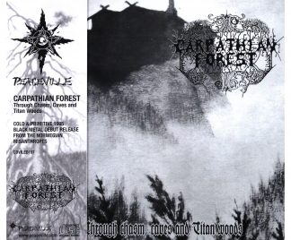 """CARPATHIAN FOREST (Norway) - """"Through Chasm, Caves and Titan Woods"""" - CD 1995 - Peaceville Records"""