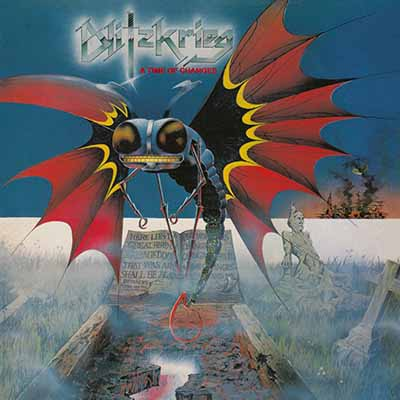 "BLITZKRIEG (UK) - ""A Time of Changes"" - LP + 10"" Black Vinyl 1985 - High Roller Records"