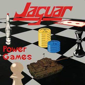 "JAGUAR (UK) - ""Power Games"" - LP + 7"" Silver Vinyl 1983 - High Roller Records"
